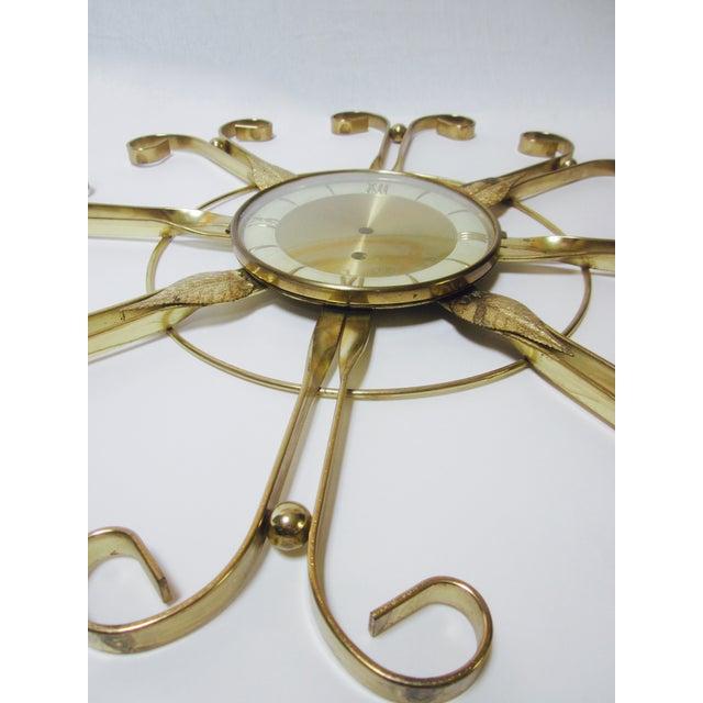 Mid Century Modern Hollywood Regency Atomic Clock - Image 8 of 11