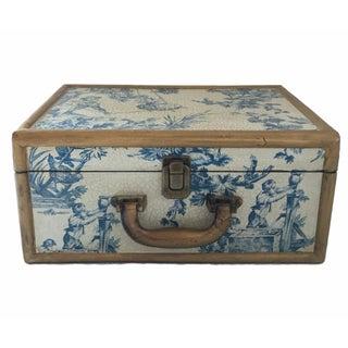 Antique Blue & White Toile Box