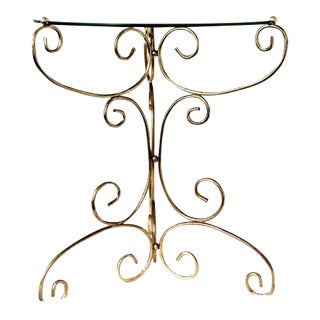 Vintage Hollywood Regency Brass Accent Table