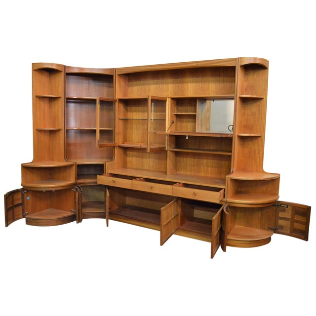 Mid Century Teak Wall Unit By Nathan Furniture - Image 2 of 11