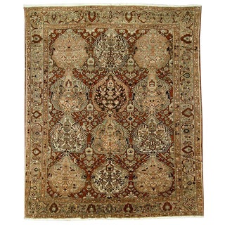 Circa 1940 Antique Bakhtiari Rug - 11′2″ × 13′1″