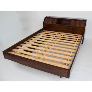 Westnofa Rosewood Bed Frame with Headboard Storage