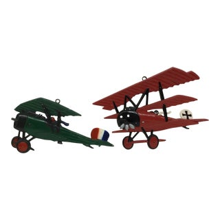 Wrought Iron Plane Models, 1975 - A Pair