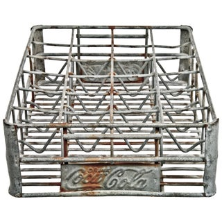 Vintage 1950s Zinc Wire Coca-Cola Bottle Carrier