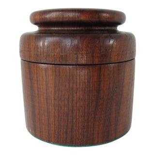 Round Lidded Wood Box