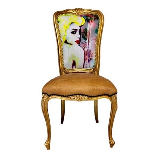 "Limited Edition #1 or 20 ""Golden Goddess"" Daf House Art Piece Chair"