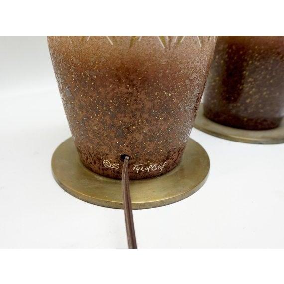 Image of TYE of California Vintage Ceramic Lamps - A Pair