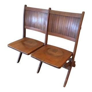 1920's Vintage 2 Seater Tandem Folding Seat