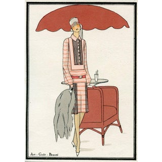 Vintage 1925 French Fashion Print
