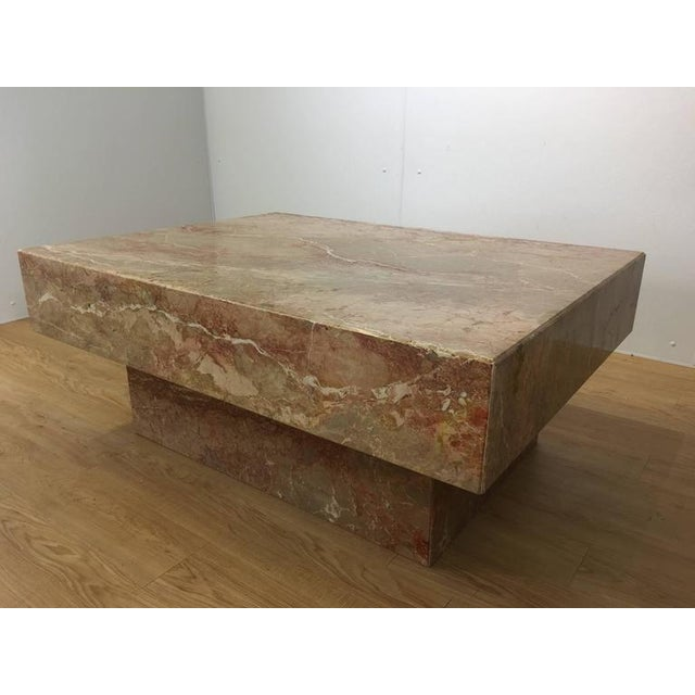 Substantial Rectangular Marble Cocktail Table - Image 2 of 7