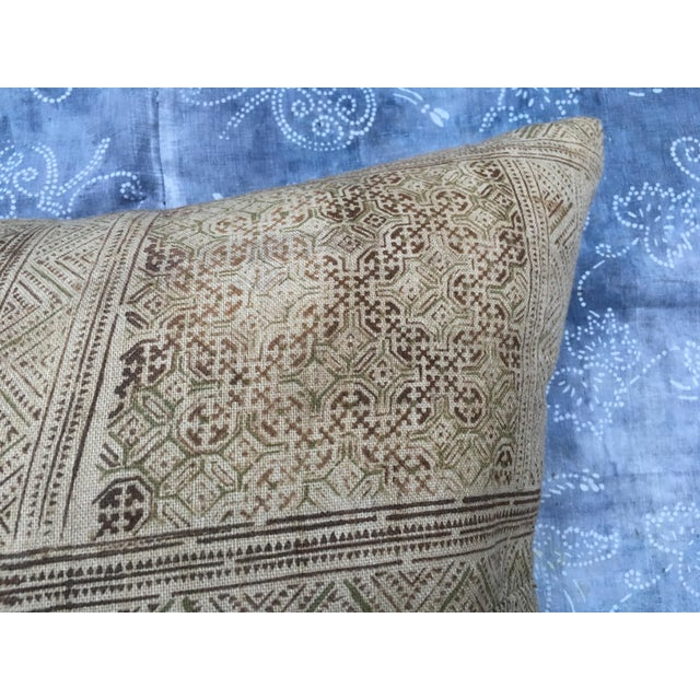Hand Loomed Tribal Batik Textile Pillow - Image 6 of 7