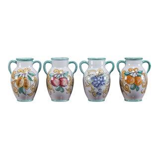 Four Vintage Italian Handled Vases by Solimene, Vietri circa 1980