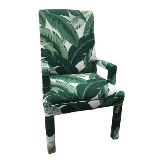 Palm Leaf Upholstered Parsons Chair