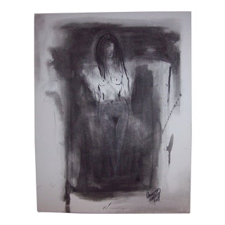 Nude Self Portrait Original Acrylic Painting by Dawn Walling
