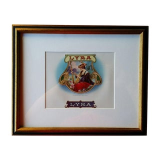 Framed Lyra Cigar Box Label