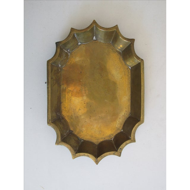 Brass Scalloped Catchall - Image 2 of 4