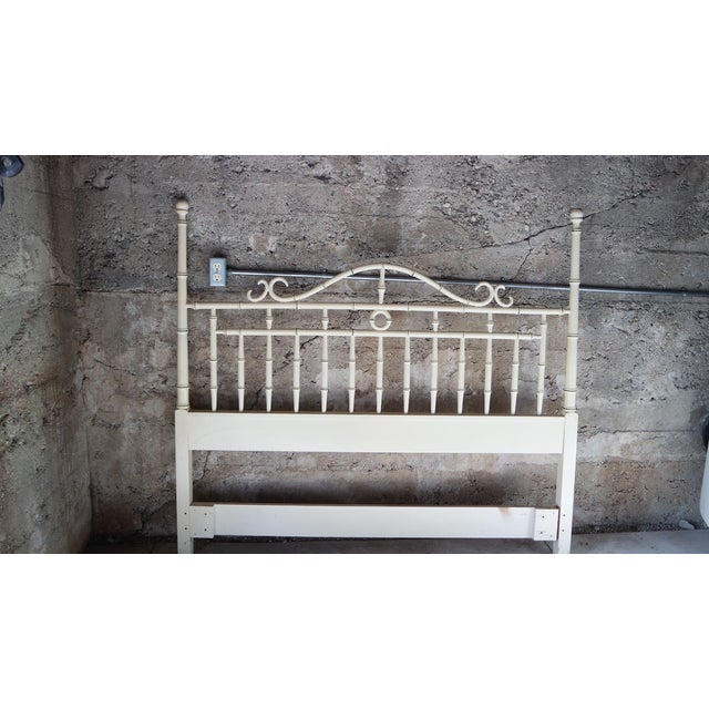 Drexel Regency Faux Bamboo Full Headboard - Image 2 of 7