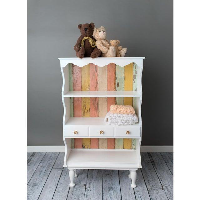 Farmhouse Shabby Chic White Cabinet - Image 3 of 3