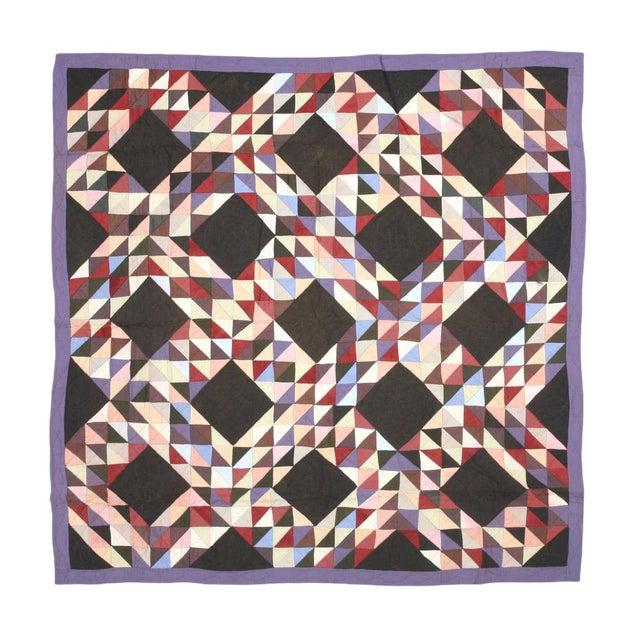 Americana Geometric Quilt - Image 1 of 4