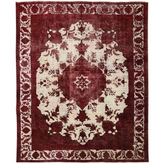 "Vintage, Hand Knotted Area Rug - 9' 10"" x 11' 9"""