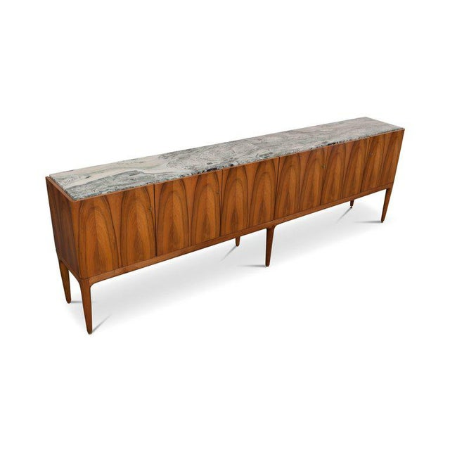 Walnut and Marble Credenza by Jos De Mey - Image 2 of 11
