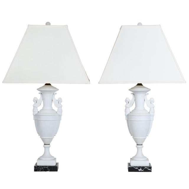 Image of Pair of Parian Table Lamps