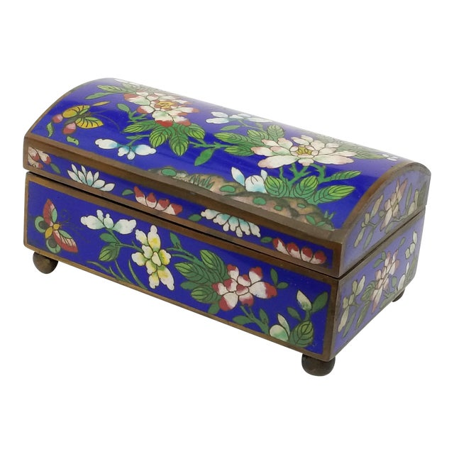 Antique Chinese Cloisonne Box - Image 1 of 11