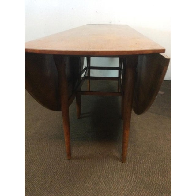 Mid-Century Modern Carved Drop-Leaf Dining Table - Image 5 of 5