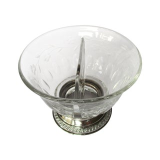 Heisey Divided Sterling & Crystal Bowl