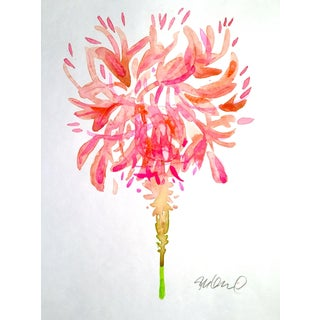 Original Feather Duster Watercolor Painting