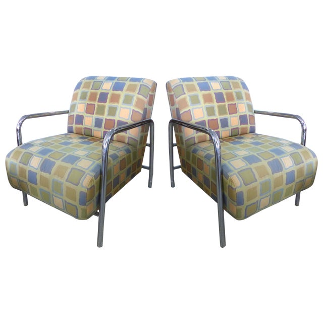 Kem Webber-Style Lounge Chairs - A Pair - Image 1 of 11