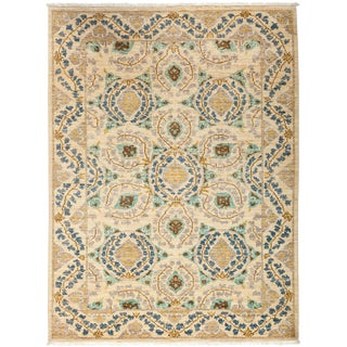 """Suzani, Hand Knotted Area Rug - 4' 4"""" X 5' 8"""""""