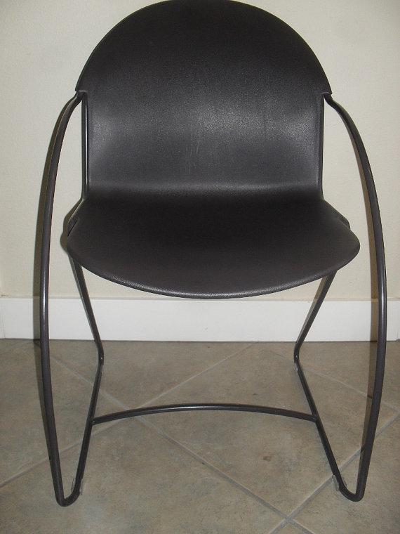 vintage steelcase parade stacking chair image 2 of 6