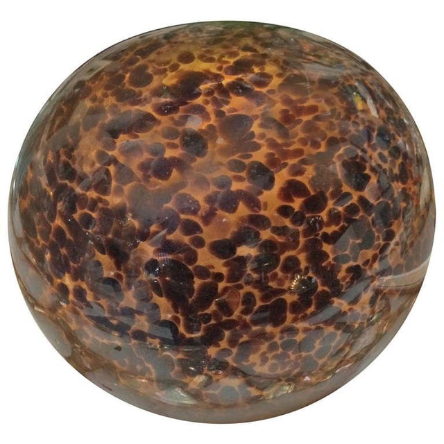 """Leopard"" Large Glass Paper Weight - Image 1 of 2"