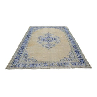 Antique Oushak Wool Rug - 7′4″ × 10′9″