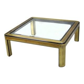 Mastercraft Mid Century Modern Square Brass Coffee Table