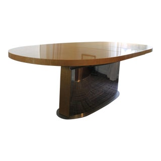 Art Deco Modernist Style Expandable Dining Table