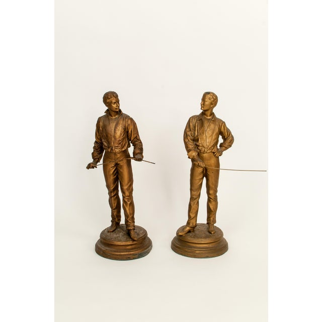Antique French Charles Masse Fencing Figures - Two - Image 2 of 7