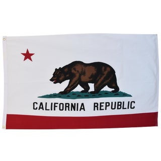 Jumbo Vintage California Republic State Bear Flag