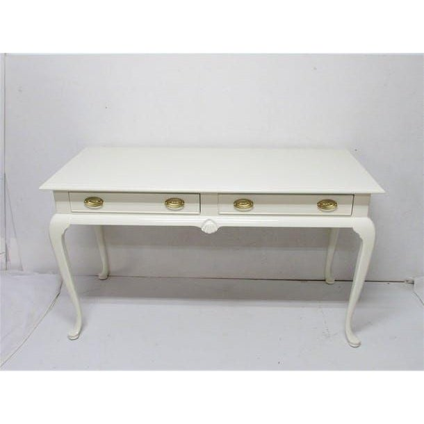 Drexel Lacquered 2-Drawer Desk - Image 2 of 7