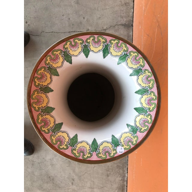 Rose Medallion Floor Vase - Image 9 of 9