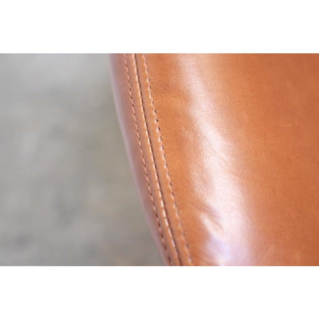 Image of Fredrik Kayser Loveseat in Leather and Teak