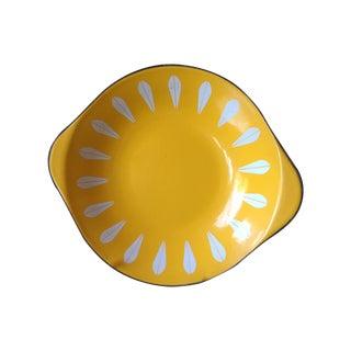 Yellow Cathrineholm Enamel Platters - Set of 3