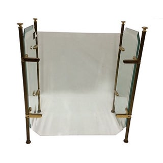 Beveled Glass Fire Screen