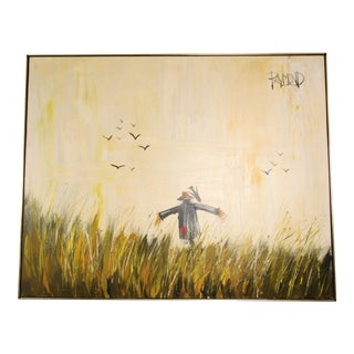 Mid-Century Impressionist Scarecrow Painting