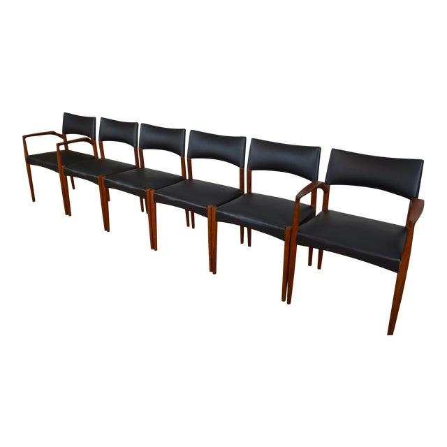 Ejner Larsen & Aksel Bender Madsen for Willy Beck Danish Teak Dining Chairs- Set of 6 - Image 1 of 7