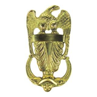 Large Brass Eagle Doorknocker