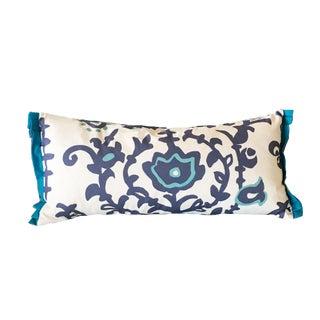 """Dana Gibson Blue """"Ottoman"""" Lumbar Pillow"""