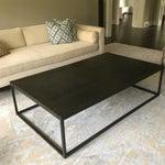 Image of Restoration Hardware Metal Parquet Coffee Table