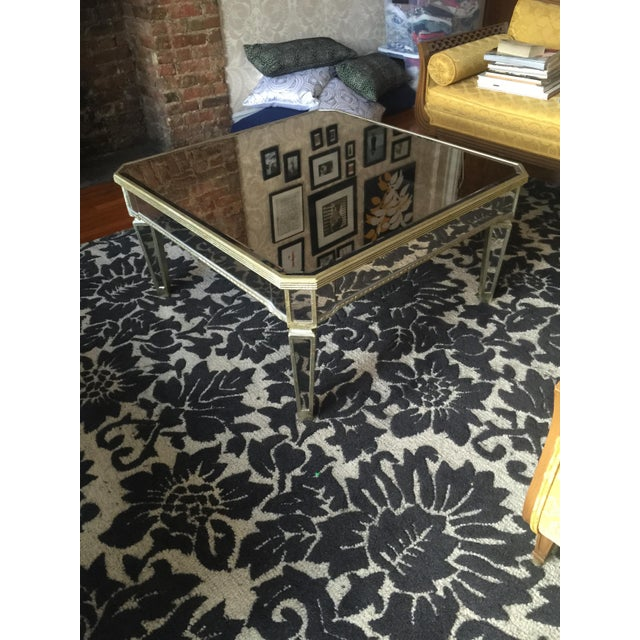 Horchow Mirrored Coffee Table - Image 2 of 3